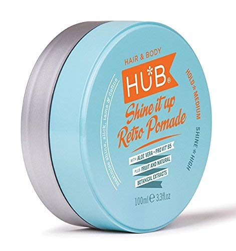 HUB Hair Pomade Wax - Shine it up Retro Styling Product - 100 g / 100 ml x...