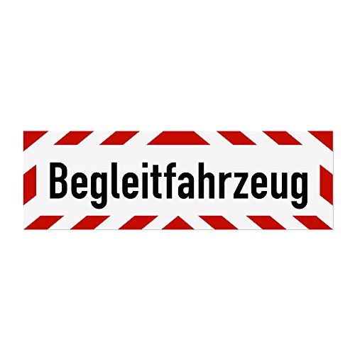 LOHOFOL Magnetschild Begleitfahrzeug | Schild magnetisch | lieferbar in DREI Größen (45 x 15 cm)