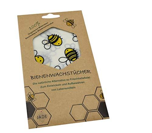 JADE bijenwasdoek 18 x 20 cm het duurzame alternatief voor vershoud- en aluminiumfolie Prijs per stuk