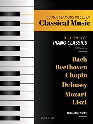 The Library of Piano Classics Sheet Music Book Classical Mozart Beethoven Bach