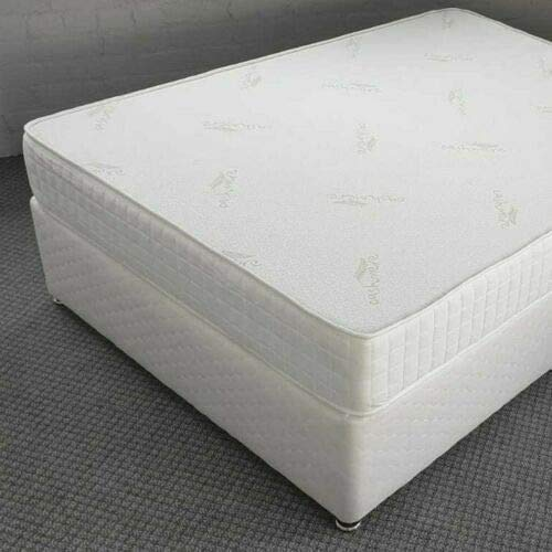 9 Inch Extra Deep Thick Orthopedic Full Hard Firm Tension Foam Rolled Mattress White Ortho - Tape Edged - Fire Resistant - Pressure Relief - 4FT6 Inch Double