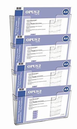 OPUS 2 350104 - Soporte de pared para documentos, 4 unidades, A4 Transversales