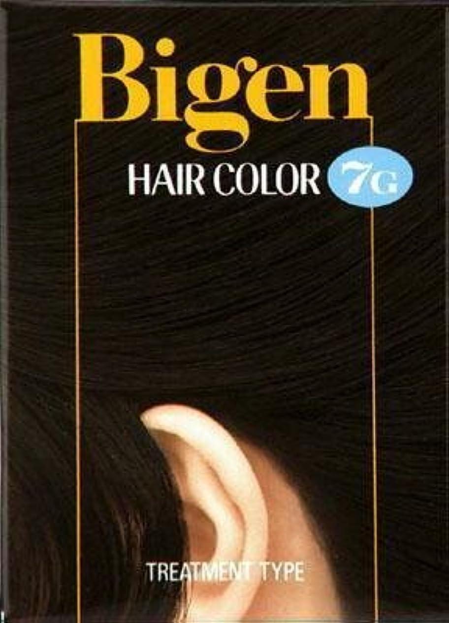 少年意味する愛ビゲン ヘアカラー 7G 自然な黒褐色 × 5個セット