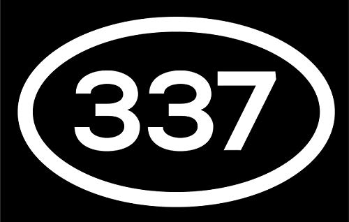 DHDM 337 Area Code Sticker Louisiana Lafayette Lake Charles New Iberia City Pride Love | 5-Inches by 3-Inches | Premium Quality White Vinyl | ND590