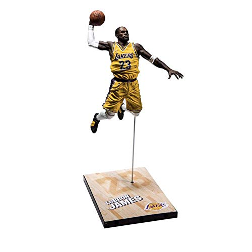 ZH NBA Basketball Star NO.23 Lebron James Figuras De Acción Estatua De Juguete Modelo Recuerdo De Colección Adornos Decorativos Cumpleaños Navidad Halloween Regalos 23Cm PVC