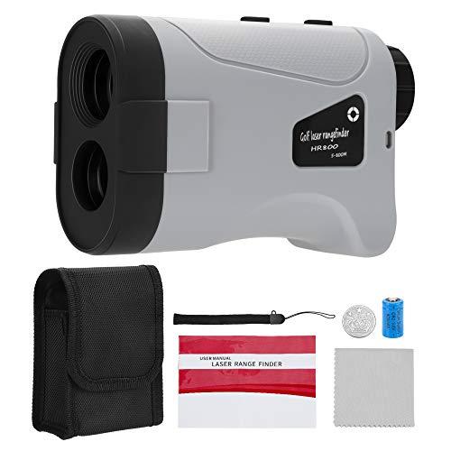 Kacsoo 875 Yard Professioneller Golf-Entfernungsmesser mit Neigungskompensation, 6-facher Vergrößerung, Golf-Distanz Winkel Geschwindigkeitsmessung, technische Messung