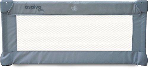 Asalvo 11824 - Barrera de cama, 90 cm, color gris
