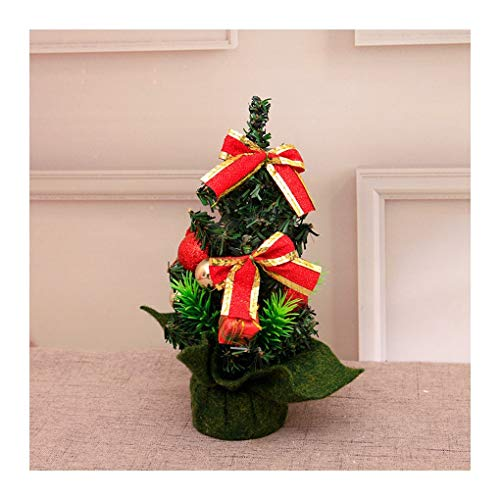 WUFANGFF Arbre De Noël Mini Mini Desktop Christmas Tree Arbre D'Ornement Noeud Papillon 20Cm,B Rouge