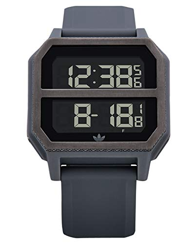 Adidas Unisex– Erwachsene Digital Quarz Uhr mit Kunststoff Armband Z16-632-00