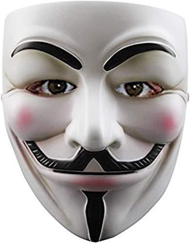 QUNPON Halloween-Maske,Halloween-Anziehmaske,V for Vendetta Guy Fawkes Face Mask Fancy Halloween Cosplay