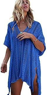 Traje de baño sexy para mujer con diseño de pareo y bufanda de playa, de gasa, edición limitada de verano 2019