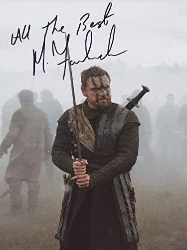 Foto firmada por Michael Fassbender Macbeth 12 x 8 IMG03 Authentic + COA