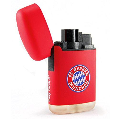 FC Bayern München Feuerzeug rot Easy Torch 8 Jet FCB Logo