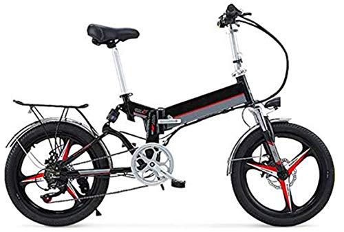 Alta velocidad 20' 350W plegable / Carbono Material Acero Ciudad de bicicleta eléctrica asistida eléctrica deporte de la bicicleta de montaña de la bicicleta con la batería de litio extraíble 48V