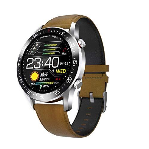 Reloj Inteligente para Hombres, con Monitor de frecuencia cardíaca, presión Arterial, rastreador de Ejercicios, Reloj Inteligente, Relojes Inteligentes Deportivos Impermeables para Hombres-C