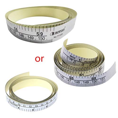 SUCHUANGUANG 151cm Cinta métrica autoadhesiva Regla de Vinilo para Cinta métrica para máquina de Coser Regla de Medida