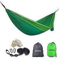 Badiqi Double and Single Portable Nylon Parachute Camping Hammock