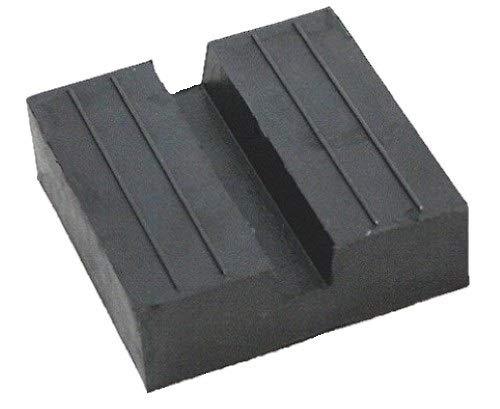 120x120x25mm Gummiauflage mit Nut Gummi-Unterlage Auflage Wagen-Heber Hebebühne eckig Auto Klotz Rangier-Wagenheber Puffer Reifen Reifenwechsel LKW Räder KFZ Tuning Zubehör
