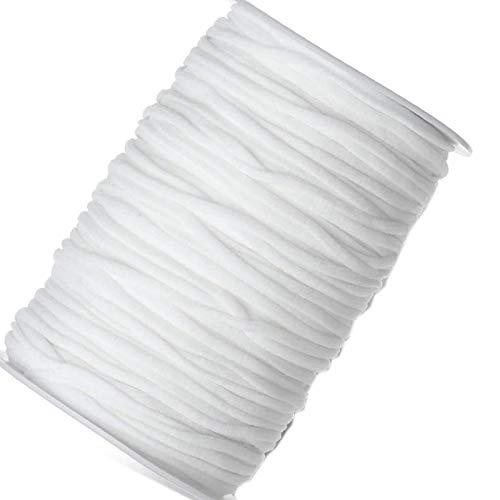 Elastic Cord Crafts Elastic Rope 200 Yards Length 1/8inch Width Elastic Band for Sewing Crafts DIY,Jewelry Making,Ear Loop DIY