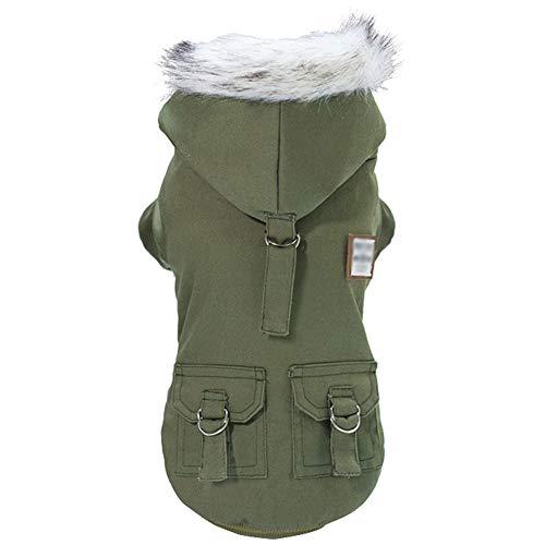 GODGETS Ropa para Perros, Camiseta Abrigo de Cachorro Ropas Invierno Perro Verde XL