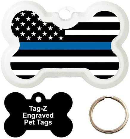 Blue LINE Flag - Customized PET Dog TAG Free Shipping New T Bone TAG-Z Shape OFFicial store