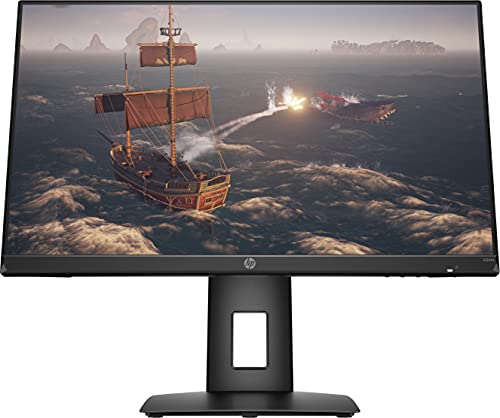 HP - Gaming X24ih Monitor 23.8 , IPS FHD 1920x1080 a 144 Hz, Micro-Edge, Tempo Risposta 1 ms, Refresh rate 144 Hz. AMD FreeSync, Regolazione Inclinazione, Altezza e Rotazione, Comandi su schermo, Nero