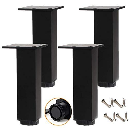 DFBGL Patas de Muebles Ajustables, Patas de Mesa de Metal, pies de Cocina, Patas de Soporte de pie de Armario de TV de aleación de Aluminio, Patas de Armario, Alfombrillas de elevación d