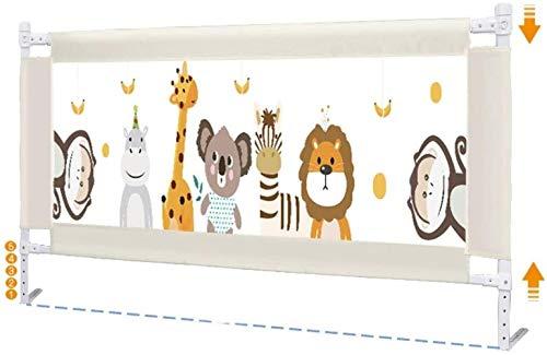 WYH Bettzaun, Baby, Anti-Fall-Leitwand, Sicherheit, universal, einseitig, vertikal, Hebe-Leitblech, 2 Meter, 1,8 Zoll, langlebig (Größe: 195 cm)
