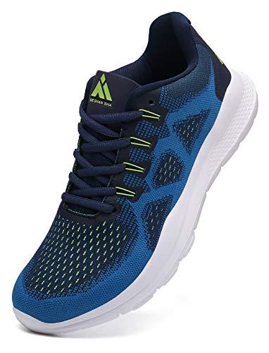 Mishansha Zapatos de Deporte Hombre Fitness Zapatillas de Running para Mujer Trail Sneakers Azul 44