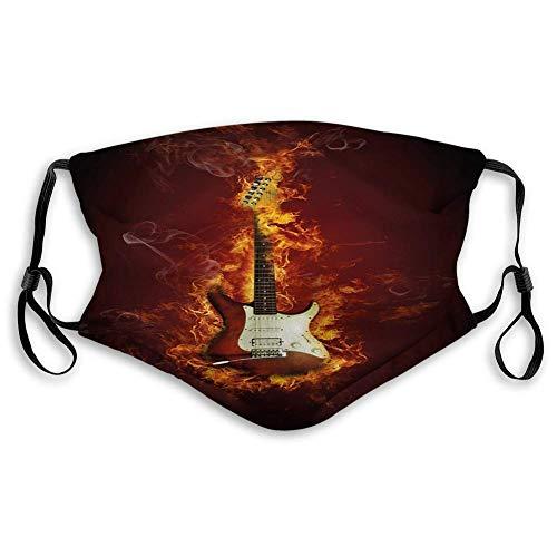 Cubierta de carbón activado a prueba de viento, guitarra eléctrica en llamas,...