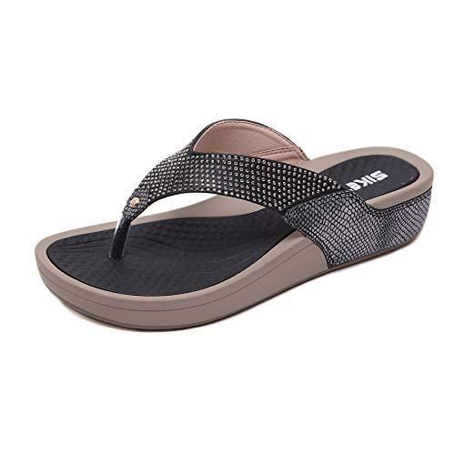 Zapatos de Verano Sandalias de Verano Sandalias Mujer Cuña Zapatillas de Estar por casa Sandalias y Chancletas de Plataforma Playa Zapatos de Verano Flip Flops