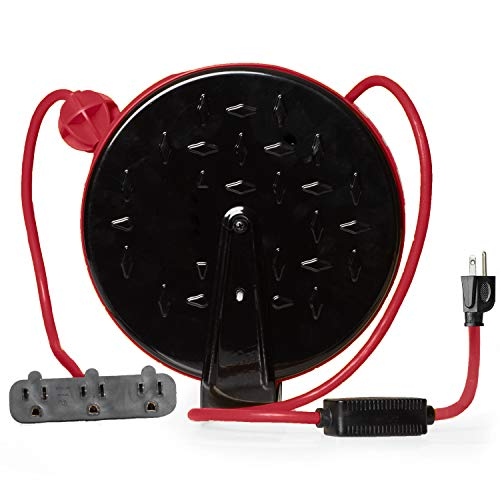 30Ft Retractable Extension Cord Reel with Breaker...