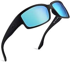 KastKing Skidaway Polarized Sport Sunglasses for Men and Women, Matte Blackout Frame, Smoke Base Ice Mirror