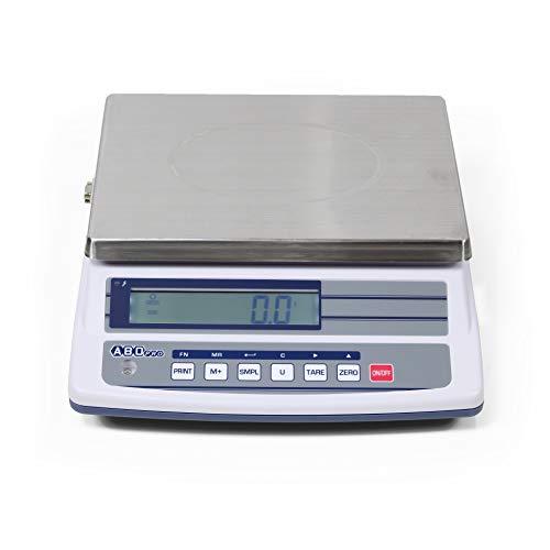 ABDPRO ABD Balance - Balance Compacte Portée 15kg/Précision 0,5 g - Balance Professionnelle Haute Qualité - Grand Plateau 23 x 33 cm - Écran LCD Rétro-éclairé - Autonomie Jusqu'à 80h - Garantie 1 an