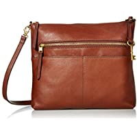 Fossil Women's Fiona Large Crossbody Purse Handbag (Brown)