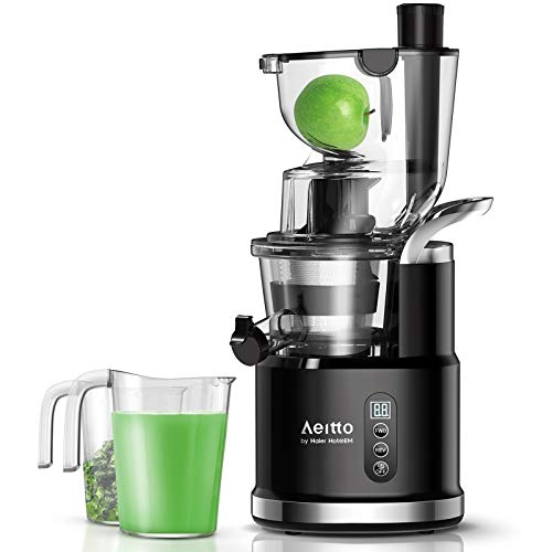 Aeitto Slow Juicer, Slow Masticating Juicer Machine with Big Wide 81mm Chute 900...