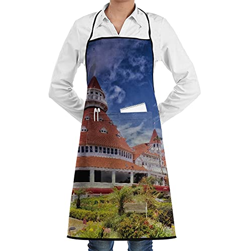 LOSNINA Delantal de cocina impermeable para hombres delantal de chef para mujeres restaurante de jardinería barbacoa cocinar hornear,Hotel Del Coronado San Diego California Alojamiento