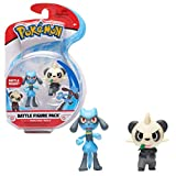 Wicked Cool Toys Pokemon Battle Figure Pack Pancham Riolu Action Figures