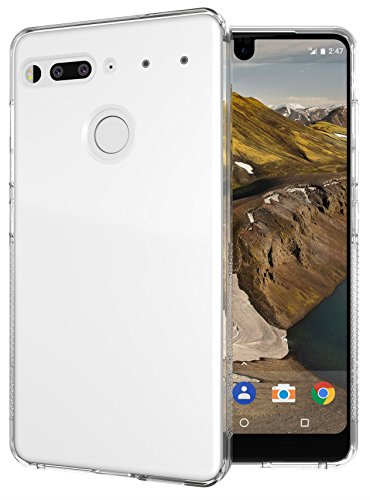 Essential Phone PH-1 Case, TUDIA Lightweight Minimalist [SKN] TPU Bumper Shock Absorption Cover for Essential Phone PH-1 (Glossy Clear)