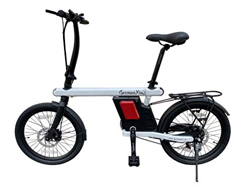 "GermanXia 20\"" E-Bike Faltrad 19kg, Urban 250W Klapprad, 36V, Intube-Akku, Scheibenbremse (Weiß)"