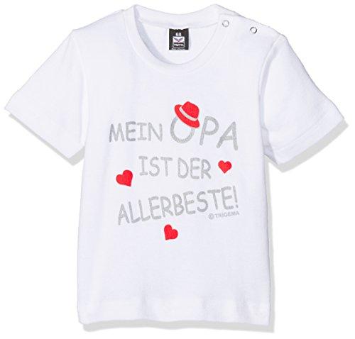 Trigema, T-Shirts Mixte Bébé, Blanc (001), 92