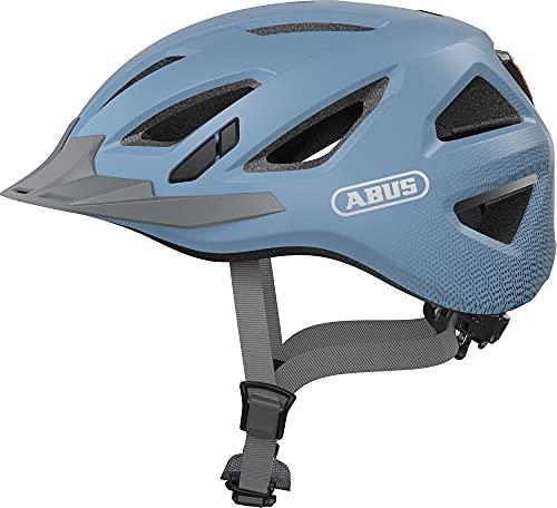 ABUS Urban-I 3.0 Stadthelm - Moderner Fahrradhelm mit Rücklicht für den Stadtverkehr - für Damen und Herren - Hellblau, Größe S