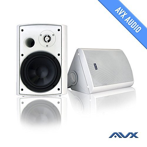 "6.5"" Outdoor Weatherproof Patio Speaker Pair (White) PSP-W1 - by AVX Audio"