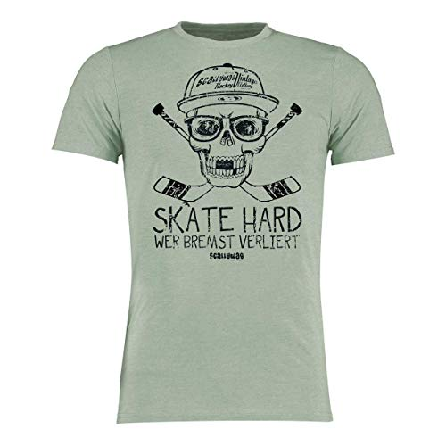 Scallywag® Eishockey T-Shirt Hockey Skate Hard I Größen XS - 3XL I A BRAYCE® Collaboration (Eishockey Ausrüstung) (3XL, Hellgrün)