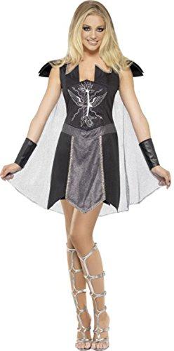 Sexy disfraz de Fancy vestido Dark Warrior hembra completa traje negro