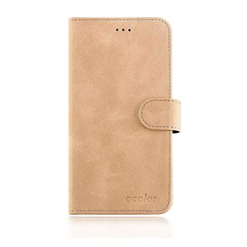 YZKJ Cover für Leagoo T5c Hülle, Flip PU Ledertasche Handyhülle Magnetknopf Wallet Tasche Standfunktion Schutzhülle Hülle mit Kartenfach & Ständer für Leagoo T5c (5.5
