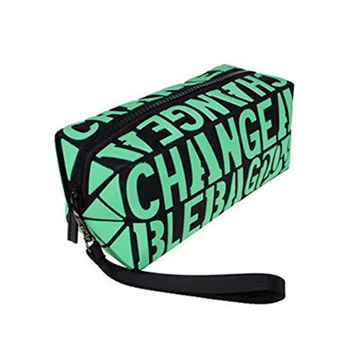 CyFe Sac cosmétique carré, sac cosmétique de voyage multifonctionnel de grande capacité, sac cosmétique pour femme, pochette