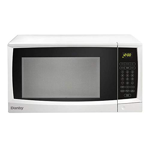 Danby 1.1 Cubic Feet 1000 Watt Compact Kitchen Counter Top Microwave Oven, White