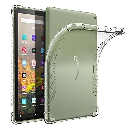 MoKo Schutzhülle Kompatibel mit All-New Kindle Fire HD 10 & 10 Plus Tablet (11. Generation 2021),Ultra Slim Flexible TPU Kristall Klar Rückseite Schutzhülle Case Durchsichtig Cover,Transparent