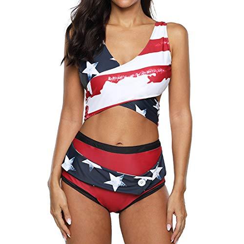 Costume Da Bagno Donna Bikini Imbottito Portacollo Push Up Criss Cross Bikini Top Vita Alta Avvolgere I Pantaloni Del Bikini Sexy Scollo A V Costumi Da Bagno Sportivi Due Pezzi Beachwear Spiaggia L